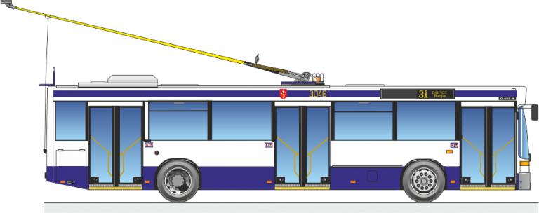 Informacja o używanych trolejbusach przeznaczonych do sprzedaży.