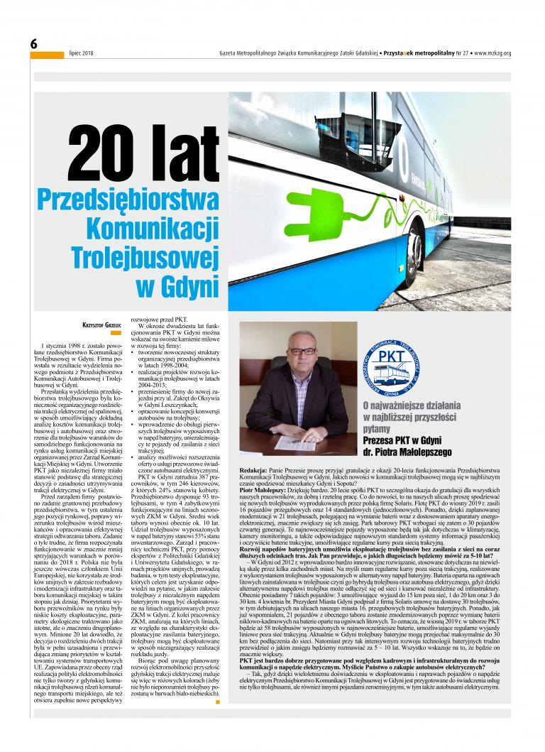 20 Lat Przedsiębiorstwa Komunikacji Trolejbusowej w Gdyni,